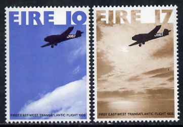 Ireland 1978 50th Anniversary of East-West Flight perf set of 2 unmounted mint SG 419-20