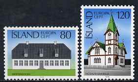 Iceland 1978 Europa perf set of 2 unmounted mint SG 561-62