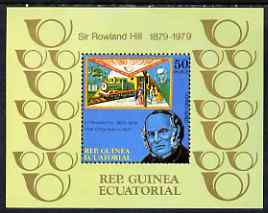 Equatorial Guinea 1979 Rowland Hill perf m/sheet unmounted mint