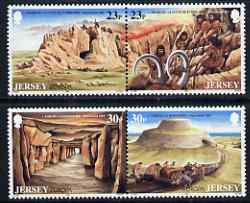 Jersey 1994 Europa - Archaeological Discoveries perf set of 4 unmounted mint SG 655-58, stamps on europa, stamps on dinosaurs, stamps on