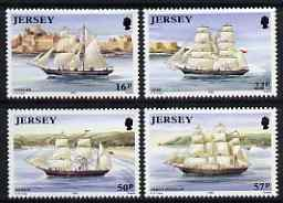 Jersey 1992 Ship Building perf set of 4 unmounted mint SG 579-82