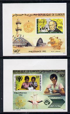 Djibouti 1982 Philexfrance imperf set of 2 unmounted mint as SG 847-48