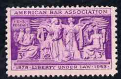 United States 1953 American Bar Association 3c unmounted mint, SG 1019