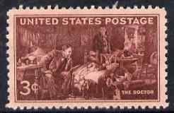 United States 1947 Medical Profession 3c unmounted mint, SG 946