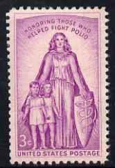 United States 1957 Infantile Paralysis Campaign 3c unmounted mint, SG 1089