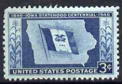 United States 1946 Centenary of Statehood of Iowa 3c unmounted mint, SG 939