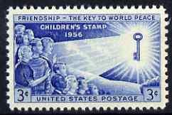 United States 1956 Children's Friendship 3c unmounted mint, SG 1087