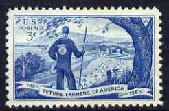 United States 1953 Future Farmers of America 5c unmounted mint, SG 1021