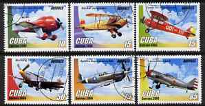 Cuba 2006 Aircraft perf set of 6 fine cto used SG 4961-6