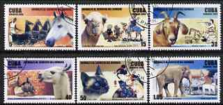 Cuba 2006 Animals in the service of Man perf set of 6 fine cto used SG 4987-92