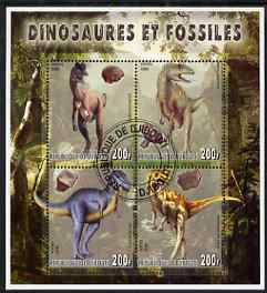 Djibouti 2006 Dinosaurs & Fossils #3 perf sheetlet containing set of 4 fine cto used