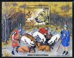 Cuba 2006 Hunting With Dogs perf m/sheet fine cto used SG MS 4993