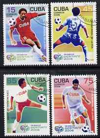 Cuba 2006 Football World Cup perf set of 4 fine cto used