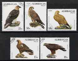 Azerbaijan 1994 Birds of Prey perf set of 5 cto used SG 189-93