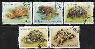 Azerbaijan 1995 Turtles perf set of 5 cto used SG234-38