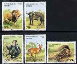 Benin 1995 Mammals complete set of 5, SG 1315-19, Mi 691-95 cto used