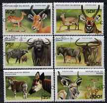 Benin 1996 Animals complete set of 6, cto used SG 1439-44