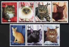 Ingushetia Republic 2000 Domestic Cats perf set of 7 values complete unmounted mint