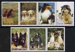 Sakha (Yakutia) Republic 2000 Dogs perf set of 7 values complete unmounted mint