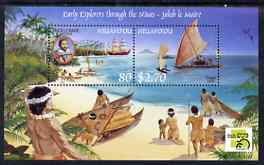 Tonga - Niuafo'ou 1999 Early Explorers perf m/sheet (with Australia 99 imprint) unmounted mint SG MS288