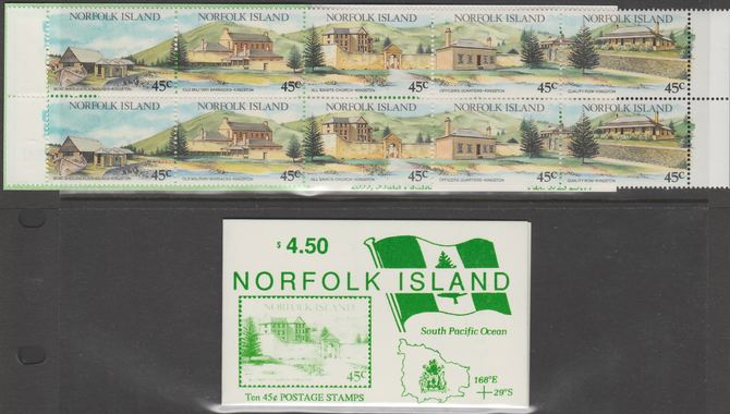 Booklet - Norfolk Island 1993 Tourism $4.50 booklet (2 sets of Tourism stamps) complete and pristine, SG SB4