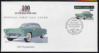 Marshall Islands 1996 Centenary of Ford Cars - 1955 Thunderbird on illustrated cover with special first day cancel, SG 717