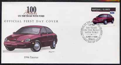Marshall Islands 1996 Centenary of Ford Cars - 1996 Taurus on illustrated cover with special first day cancel, SG 720