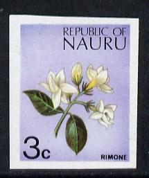 Nauru 1973 Plant (Rimone) 3c definitive (SG 101) unmounted mint IMPERF single