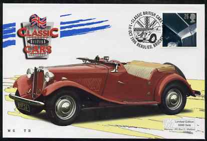 Great Britain 1996 Classic Sports Cars 26p MG TD on Mercury illustrated (Limited Edition) cover with special Beaulieu cancel, SG 1946