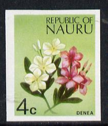 Nauru 1973 Plant (Denea) 4c definitive (SG 102) unmounted mint IMPERF single