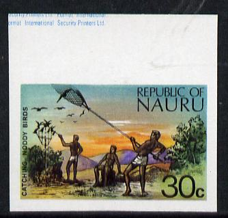 Nauru 1973 Catching Noddy Birds 30c definitive (SG 110) unmounted mint IMPERF single