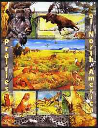 Kyrgyzstan 2004 Fauna of the World - Prairies of N America perf sheetlet containing 6 values unmounted mint