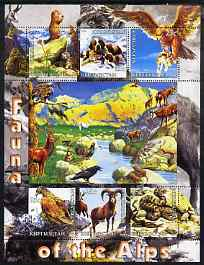 Kyrgyzstan 2004 Fauna of the World - Alps perf sheetlet containing 6 values unmounted mint
