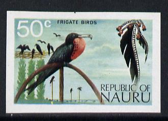 Nauru 1973 Frigate bird 50c definitive (SG 1.11) unmounted mint IMPERF single