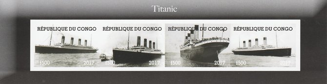 Congo 2017 The Titanic imperf sheetlet containing 4 values unmounted mint. Note this item is privately produced and is offered purely on its thematic appeal