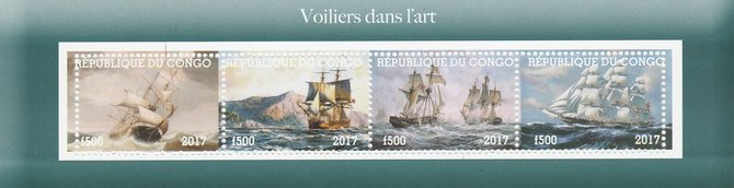 Congo 2017 Paintings of Ships perf sheetlet containing 4 values unmounted mint. Note this item is privately produced and is offered purely on its thematic appeal