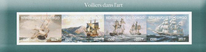 Congo 2017 Paintings of Ships imperf sheetlet containing 4 values unmounted mint. Note this item is privately produced and is offered purely on its thematic appeal