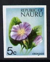 Nauru 1973 Plant (Erekogo) 5c definitive (SG 103) unmounted mint IMPERF single