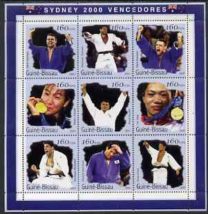 Guinea - Bissau 2001 Sydney Olympic Games perf sheetlet containing 9 values (Judo) unmounted mint Mi 1288-96
