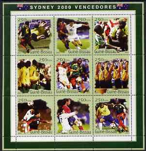 Guinea - Bissau 2001 Sydney Olympic Games perf sheetlet containing 9 values (Football) unmounted mint Mi 1306-14