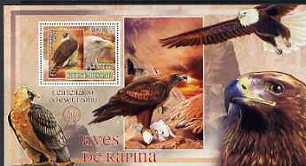 Guinea - Bissau 2007 Birds of Prey - Eagles large perf s/sheet containing 1 value (Scout logo in background) unmounted mint