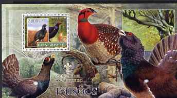 Guinea - Bissau 2007 Birds - Pheasants large perf s/sheet containing 1 value (Scout logo in background) unmounted mint