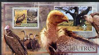 Guinea - Bissau 2007 Birds - Vultures large perf s/sheet containing 1 value (Scout logo in background) unmounted mint
