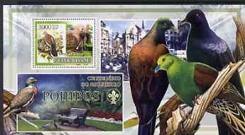 Guinea - Bissau 2007 Birds - Pigeons large perf s/sheet containing 1 value (Scout logo in background) unmounted mint