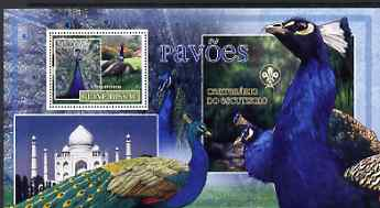 Guinea - Bissau 2007 Birds - Peacocks large perf s/sheet containing 1 value (Scout logo in background) unmounted mint