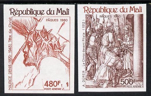 Mali 1980 Easter Engravings imperf set of 2 unmounted mint, SG 764-5