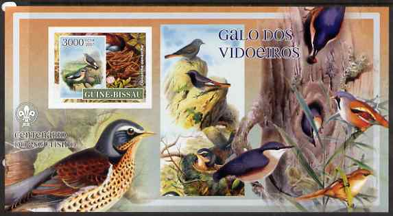 Guinea - Bissau 2007 Birds - Mixed Species large imperf s/sheet containing 1 value (Scout logo in background) unmounted mint