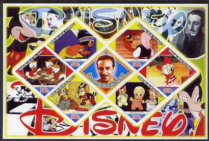Mali 2006 The World of Walt Disney #08 imperf sheetlet containing 6 diamond shaped values plus label, unmounted mint