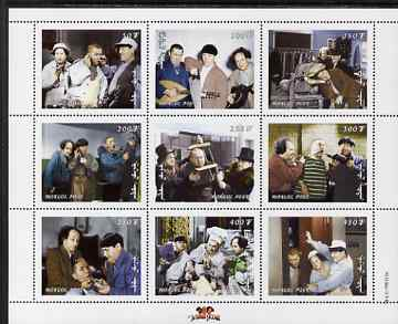 Mongolia 1998 The Three Stooges (Comedy series) perf m/sheet #1 containing 9 values unmounted mint, SG MS 2697a