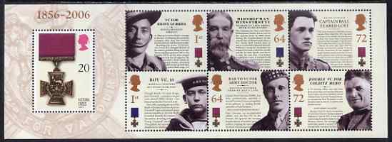 Great Britain 2006 150th Anniversary of Victoria Cross perf m/sheet unmounted mint, SG MS 2665